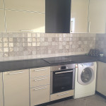 угловая кухня с стиральной машиной