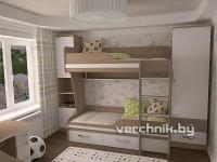 кровать на двоих детей