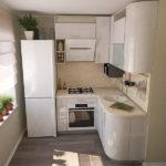 угловая кухня в хрущевку