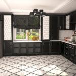 черная кухня под классику