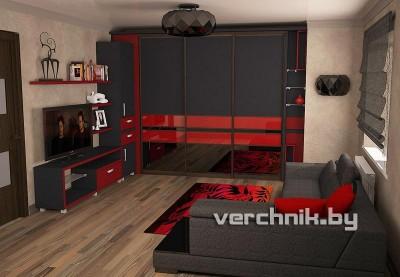 красно-черный шкаф
