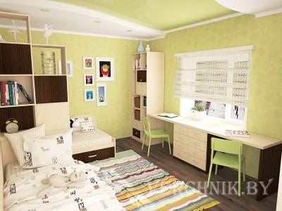 двухместный стол в детскую комнату