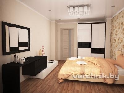 спальня черно-белая