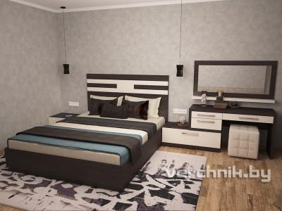 кровать с макияжным столиком
