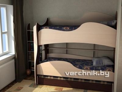 детская кровать для троих детей