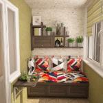 диван и стол на балкон