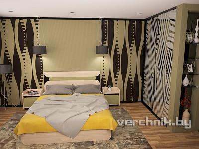 оливковый цвет в спальне