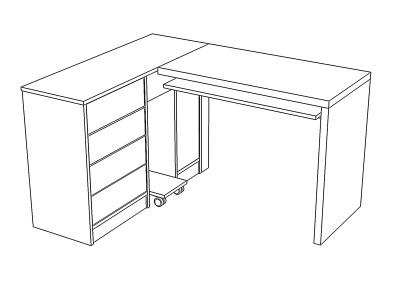 стол угловой прямоугольный