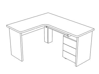стол угловой с шуфлядами