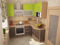 кухня лайм, зебрано