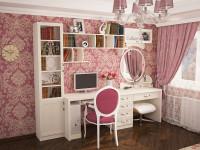 розовый макияжный стол