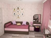 спальня с макияжным столиком