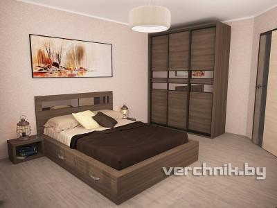 шкаф и кровать в спальню