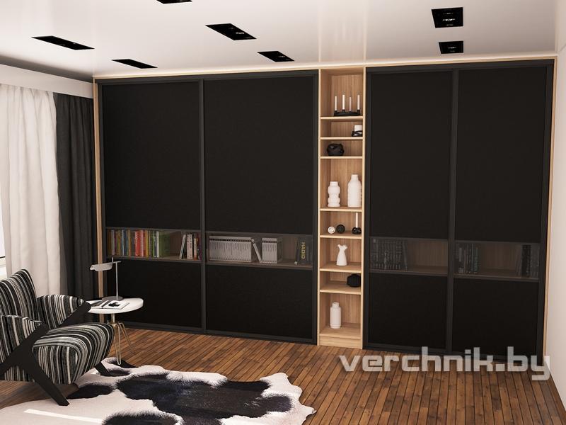 встроенный шкаф и натяжной потолок