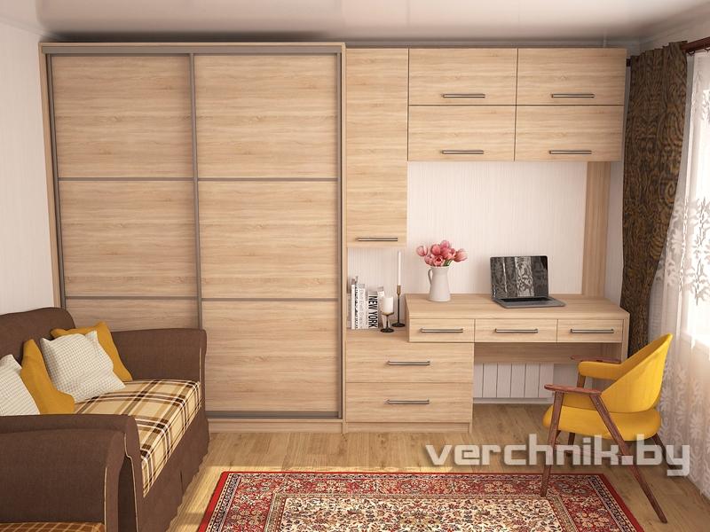 шкаф и натяжной потолок