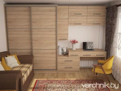 3D модель: шкаф и стол