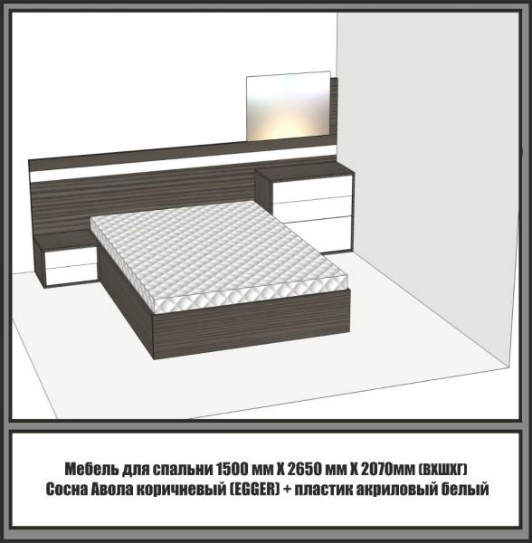 3D — визуализация: кровать с подъемным механизмом.