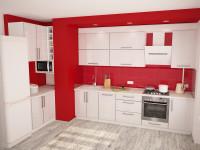 Красный цвет на кухне.