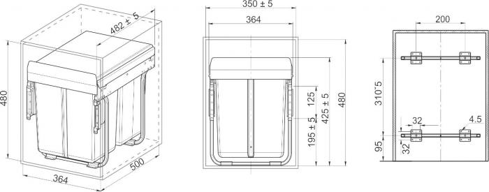 сегрегатор габариты