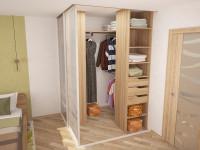 гардероб в углу комнаты