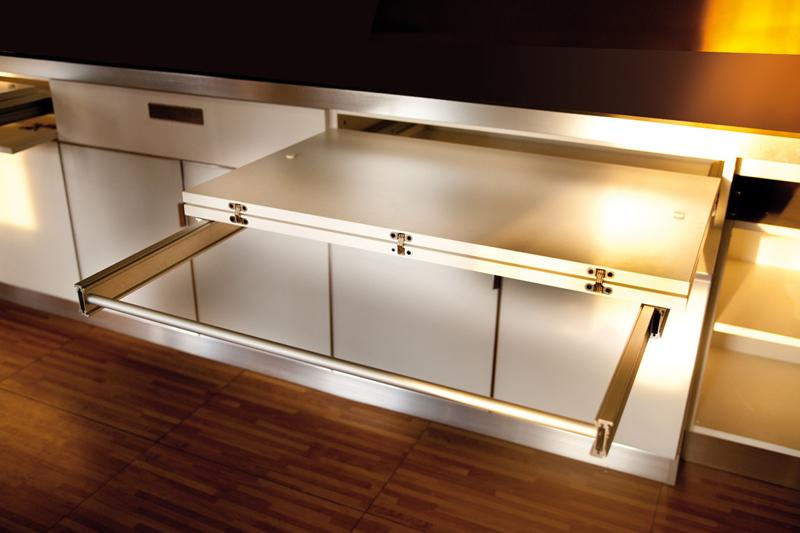 Стол трансформер atim lunch - выдвижной кухонный стол.