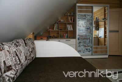 3D — визуализация: комната на чердаке