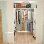 гардероб в однокомнатной комнате