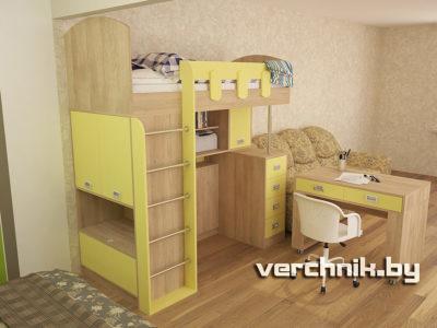 кровать с выдвижным столом