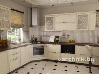 угловая классическая кухня