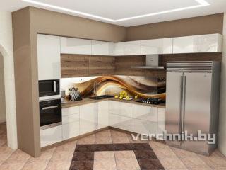 кухня в три уровня