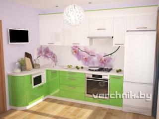 кухня из зеленого пластика