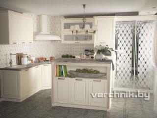 кухня под классику с островом