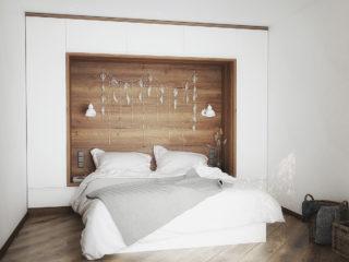 спальня со шкафами
