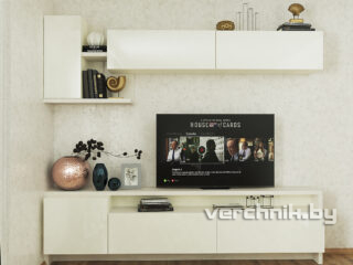 Стенка без шкафа с местом для телевизора