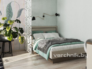 Двухспальная кровать с перегородкой