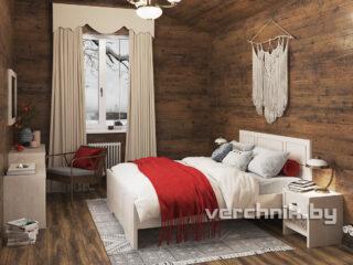 Кровать двухспальная в спальне
