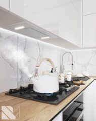 Белая кухня из акрила