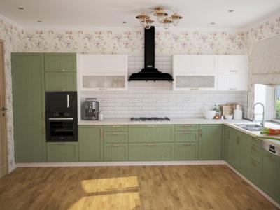 Угловые кухни в стиле прованс