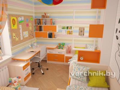 оранжевый угловой стол
