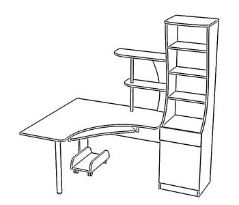 стол угловой с пеналом