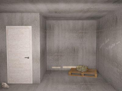 Гардеробная комната в однокомнатной квартире.