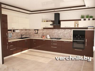 Угловые кухни большого размера