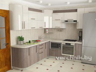 Угловые кухни с радиусным фасадом