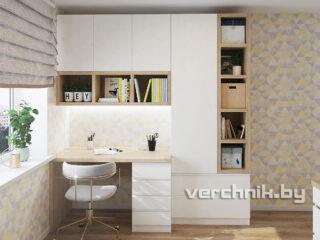 Стол с шкафом белые в детскую