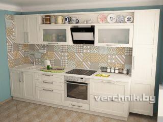 Прямые кухни с рамочным фасадом