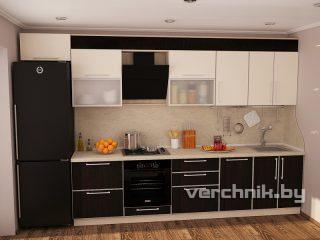 темно коричневый фасад на кухне
